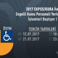 2017 EKPSS/KURA İle Yerleştirme İşlemleri Başlıyor