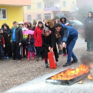 Merkezimizde Tahliye ve Yangın Tatbikatı Yapıldı