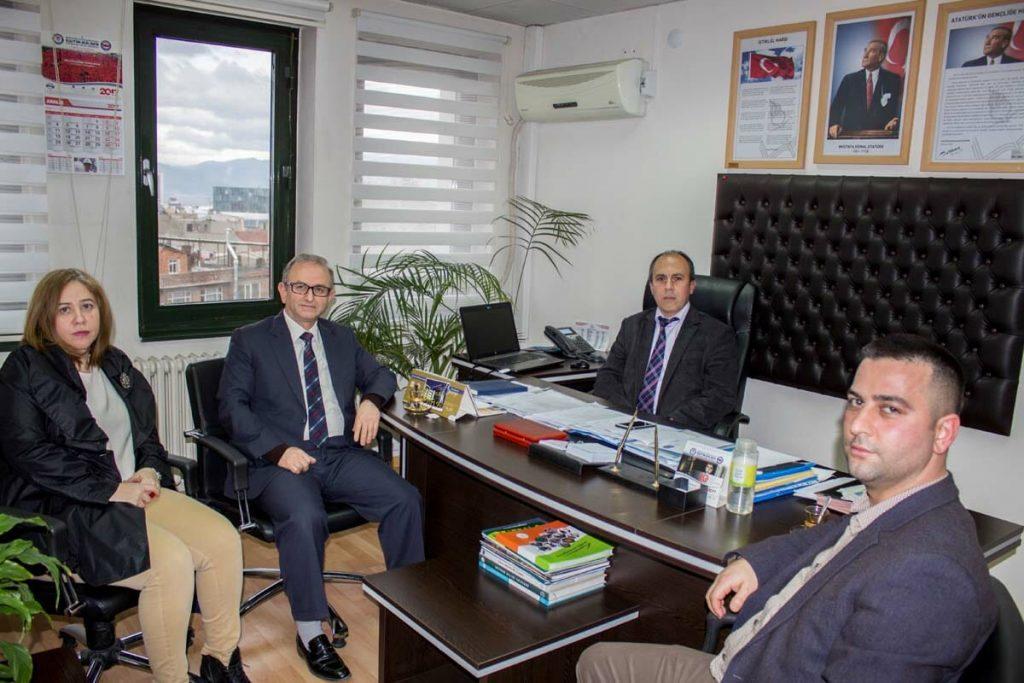 Bursa İl Milli Eğitim İl Müdür Yardımcısı Mustafa KÂHYA'yı ziyaret