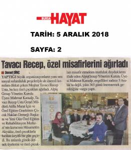 Tavacı Recep, Özel Misafirlerini Ağırladı (Bursa Hayat Gazetesi)