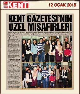 YeniGün Kent Gazetesi'nin Özel Misafiri
