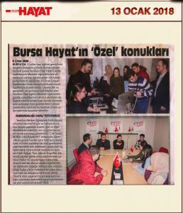 YeniGün Bursa Hayat Gazetesi Ziyareti